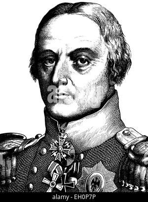 Digital improved image of Friedrich Wilhelm Freiherr von Buelow, Graf von Dennewitz, Prussian general, 1755 - 1816, - Stock Photo