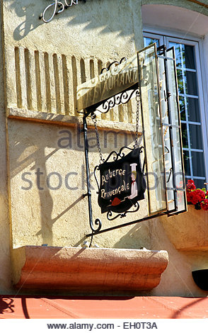 Antibes, restaurant in old town, Alpes Maritimes - Stock Photo