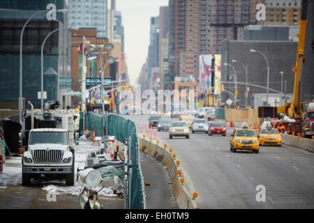 10 Avenue in Manhattan in New York North America USA - Stock Photo