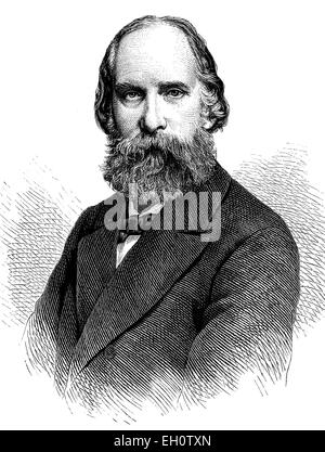 Franz Nissl, 1860-1919, German neurologist and psychiatrist, historical illustration, circa 1886 - Stock Photo