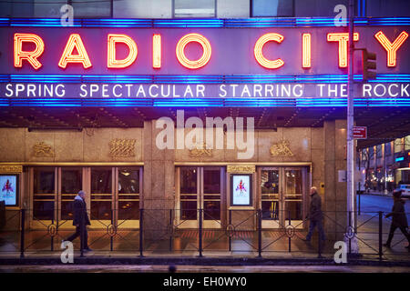 Radio City building  on 6th Avenue Manhattan in New York North America USA - Stock Photo