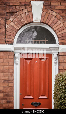 Red Brick Victorian Period House With Wooden Shutters