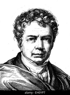 Digital improved image of Friedrich Wilhelm Joseph von Schelling, 1775 - 1854, philosopher, portrait, historical - Stock Photo
