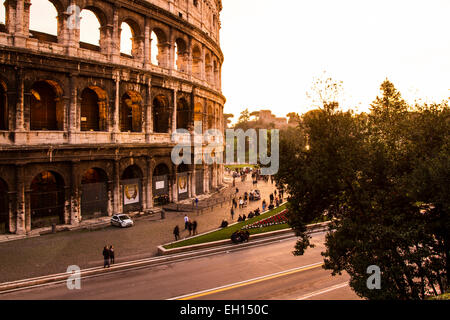 Colosseum at sunset. Rome, Province of Rome, Italy. - Stock Photo