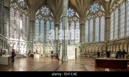 Chapter House Salisbury Cathedral Wiltshire GB UK - Stock Photo