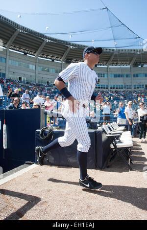 Tampa, Florida, USA. 4th Mar, 2015. Alex Rodriguez (Yankees) MLB : Alex Rodriguez of the New York Yankees takes - Stock Photo