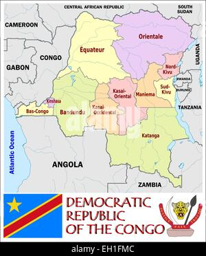 Republic of The Congo administrative divisions Stock Vector Art