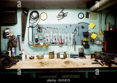 Tools in workshop - Stock Photo