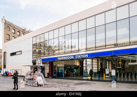 Farringdon station entrance - London - Stock Photo