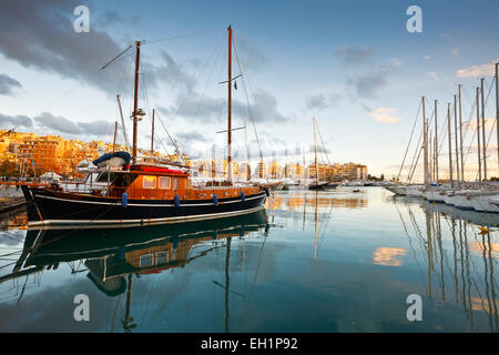 Yachts in Zea Marina in Athens, Greece. - Stock Photo