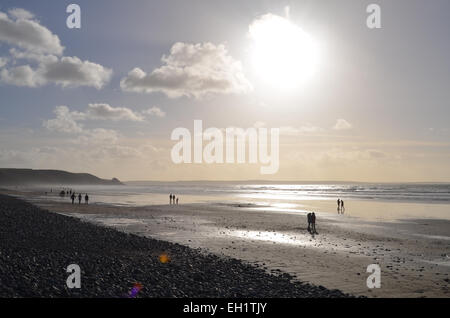 Newgale beach, Pembrokeshire, South Wales - Stock Photo
