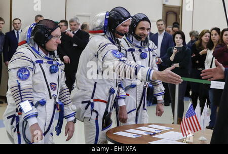 Moscow Region, Russia. 5th Mar, 2015. Main crew of the expedition to the International Space Station, US astronaut - Stock Photo
