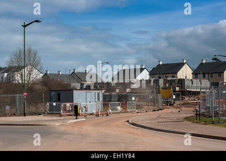 Housing Development under constuction in Paignton Devon, Construction, New, Contemporary, Residential District, - Stock Photo
