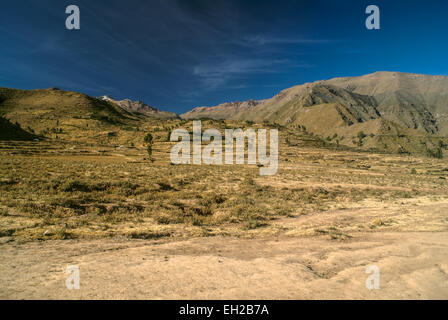 Arid peruvian landscape near Canon del Colca - Stock Photo