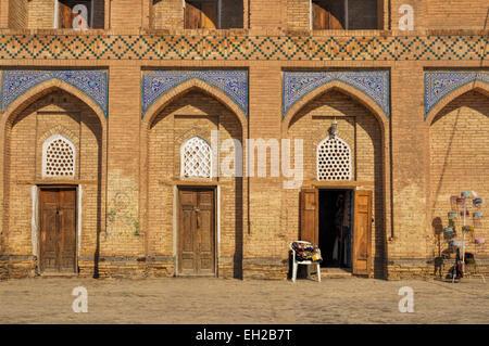 Facade of house in Khiva, Uzbekistan - Stock Photo