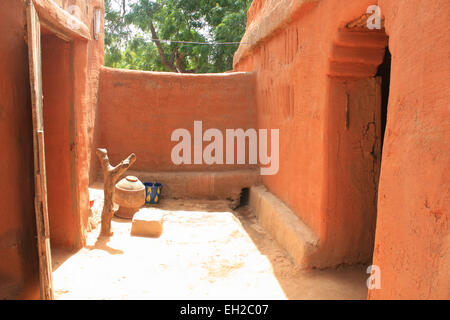 Interior of a african house in Mali - Stock Photo