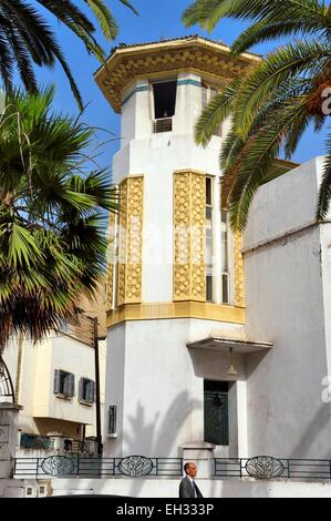 Corner house art deco building 3rd street springs east rand stock photo 69642234 alamy for Construction villa casablanca