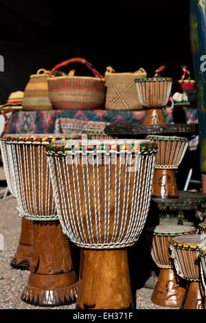 Craft at African Art Village Marketplace on sale at annual Tucson Gem, Mineral, and Fossil show. - Stock Photo