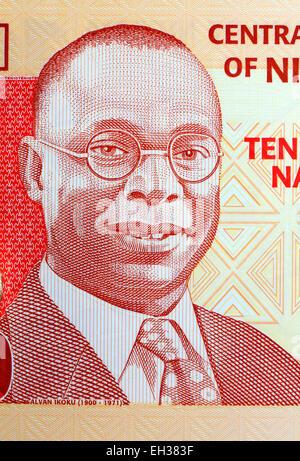 Alvan Ikoku from 10 naira banknote, Nigeria, 2006 - Stock Photo