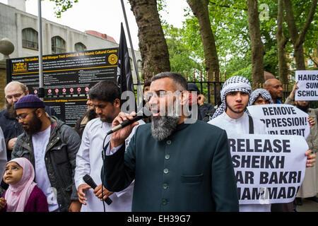 FILE IMAGES: London, UK. 30th May, 2014.  Islamist Abu Rumaysah - real name Siddhartha Dhar, currently in Syria - Stock Photo