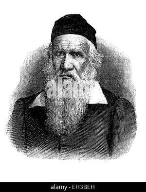 Historical drawing from the 19th century, portrait of Friedrich Ludwig Jahn, 1778 - 1852, the initiator of the German - Stock Photo