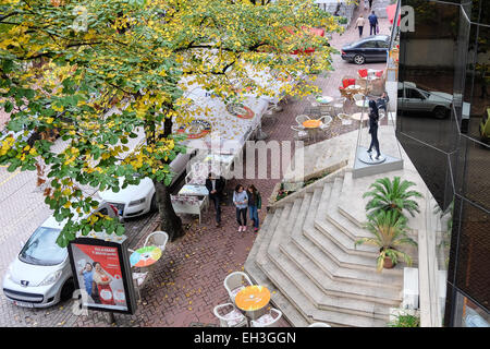 Albania, Tirana, Blloku neighbourhood, in the middle of the city, a zone popular for numerous cafes, bars and vivid - Stock Photo