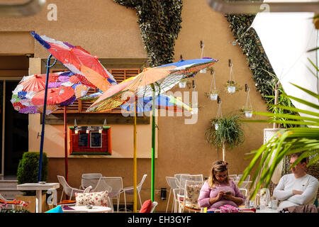 Albania, Tirana, restaurant in the Blloku neighbourhood. I the middle of the city, is a zone popular for numerous - Stock Photo