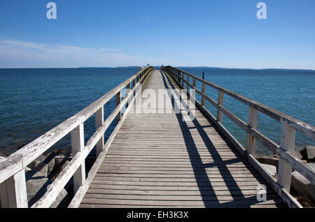 Pier, Baltic Sea, Sassnitz, Rügen, Mecklenburg-Western Pomerania, Germany