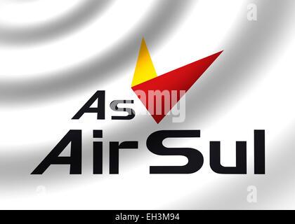 Air Sul logo icon symbol flag emblem - Stock Photo