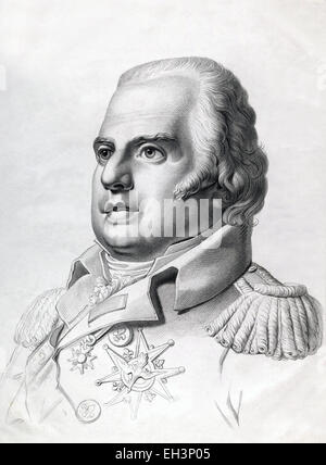 Louis XVIII, known as 'the Desired', was a monarch of the House of Bourbon who ruled as King of France from 1814 - Stock Photo