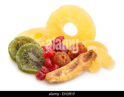 dried fruits isolated - Stock Photo