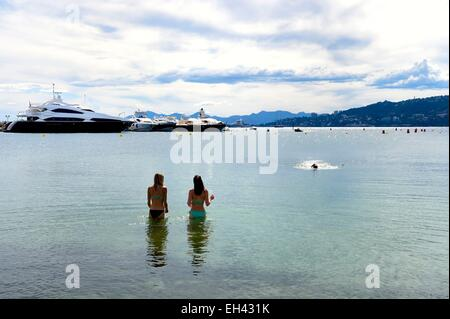 France, Alpes Maritimes, Antibes, Juan les Pins, fishers beach - Stock Photo