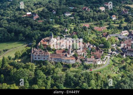France, Lot, Loubressac, labelled Les Plus Beaux Villages de France (The Most beautiful Villages of France), the - Stock Photo