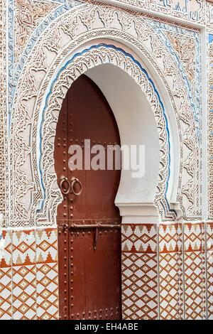 Morocco, High Atlas, Marrakech, imperial city, medina listed as World Heritage by UNESCO, Mouassine Mosque (12th - Stock Photo