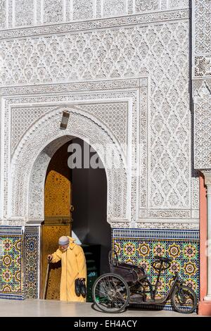 Morocco, High Atlas, Marrakech, imperial city, medina listed as World Heritage by UNESCO, Zaouia Sidi Bel Abbes, - Stock Photo