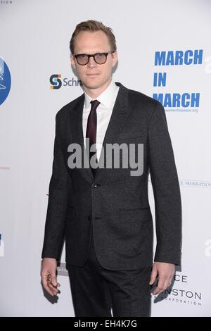 New York, NY, USA. 6th Mar, 2015. Paul Bettany at arrivals for The Annual UN Women for Peace Association Awards - Stock Photo