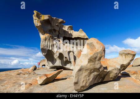 Australia, South Australia, Kangaroo island, Flinders Chase National Park, granite formations of Remarkable Rocks - Stock Photo