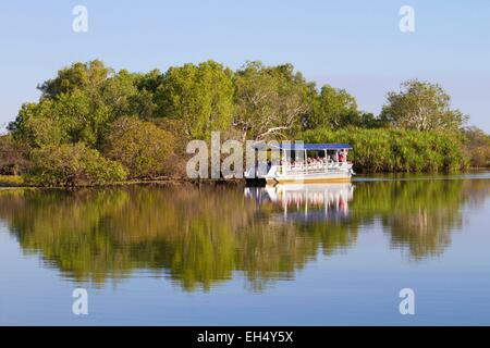 Australia, Northern Territory, Kakadu National Park, listed as World Heritage by UNESCO, cruise ship on the Yellow - Stock Photo