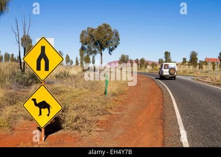 Australia, Northern Territory, Uluru-Kata Tjuta National Park listed as World Heritage by UNESCO, Ayers Rock or - Stock Photo