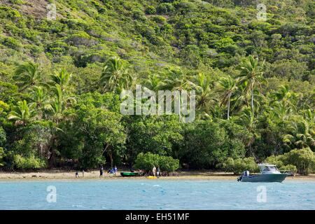 France, New Caledonia, Grande-Terre, Southern Province, Le Mont Dore, Ouen Island, password Nokoue - Stock Photo