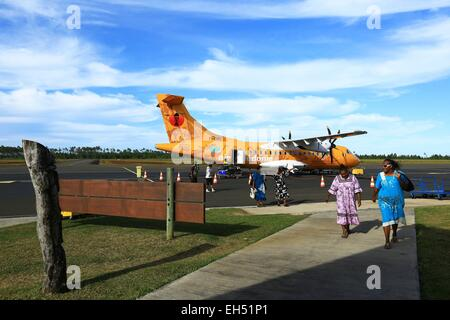 France, New Caledonia, Isle of Pines Airfield Moue - Stock Photo