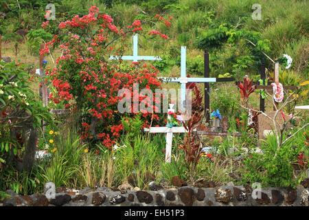 France, New Caledonia, Isle of Pines, tribal Touete - Stock Photo