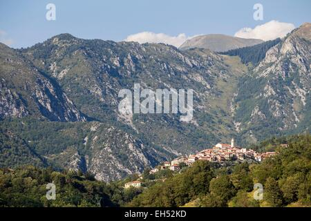 France, Alpes Maritimes, Parc National du Mercantour (National park of Mercantour), La Bollene Vesubie - Stock Photo