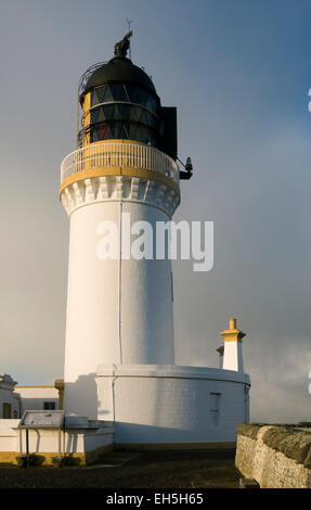 Noss Head lighthouse, near Wick, Caithness, Scotland, UK. - Stock Photo