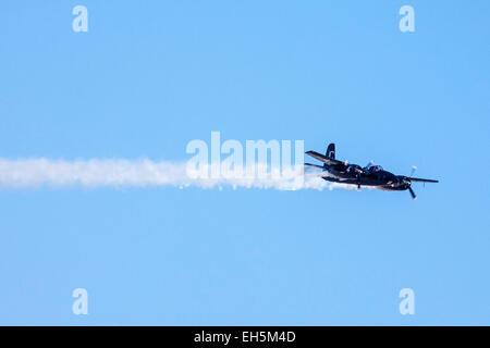A Grumman F7F Tigercat at the 2011 Wings Over Camarillo Air Show in Camarillo California - Stock Photo