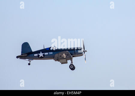 A Chance Vought F4U Corsair at the Wings Over Camarillo Air Show - Stock Photo