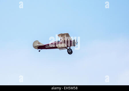 A barnstormer taking off at the 2011 Wings Over Camarillo Air Show in Camarillo California - Stock Photo