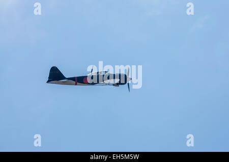 A Mitsubishi A6M Zero at the Wings Over Camarillo Air Show - Stock Photo