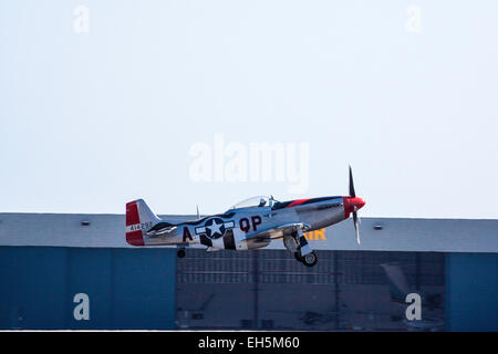 A North American P-51 Mustang at the 2011 Wings Over Camarillo Air Show - Stock Photo