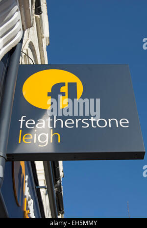 hanging sign at a branch of estate agents featherstone leigh, twickenham, middlesex, england - Stock Photo